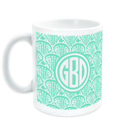 Girls Lacrosse Coffee Mug Monogrammed Lotta Lax