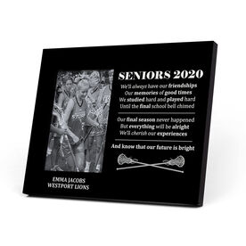 Girls Lacrosse Photo Frame - Seniors 2020 Our Future Is Bright