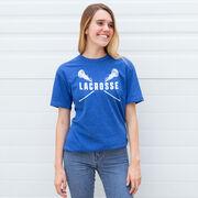 Girls Lacrosse Short Sleeve T-Shirt - Crossed Girls Sticks