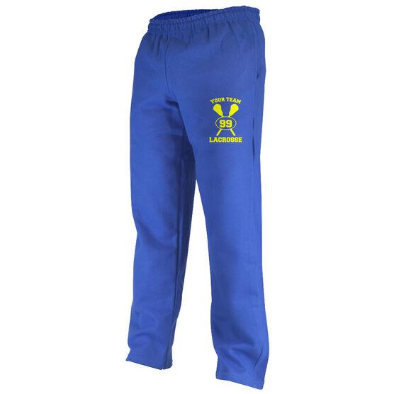 Lacrosse Team & Number Fleece Sweatpants