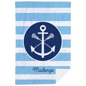 Girls Lacrosse Premium Blanket - Personalized Sticks Anchor