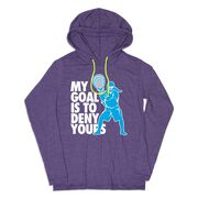 Girls Lacrosse Lightweight Hoodie - My Goal Is To Deny Yours