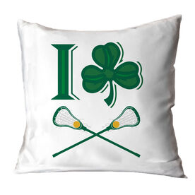 Girls Lacrosse Throw Pillow I Shamrock Girls Lacrosse