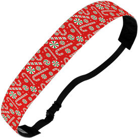 Athletic Julibands No-Slip Headbands - Candy Canes
