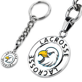 Lacrosse Circle Keychain Your Logo