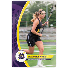 "Girls Lacrosse 18"" X 12"" Aluminum Room Sign - Player Photo With Logo"