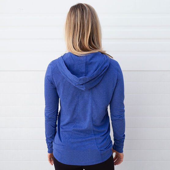 Girls Lacrosse Lightweight Performance Hoodie - My Goal Is To Deny Yours Goalie Stick