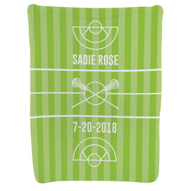 Girls Lacrosse Baby Blanket - Field