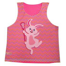 Girls Lacrosse Racerback Pinnie Lax Easter Bunny