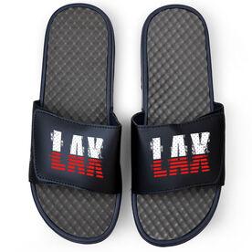 Lacrosse Navy Slide Sandals - USA Stripes