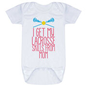 Girls Lacrosse Baby One-Piece - I Get My Skills From