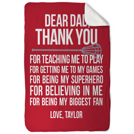 Lacrosse Sherpa Fleece Blanket Dear Dad