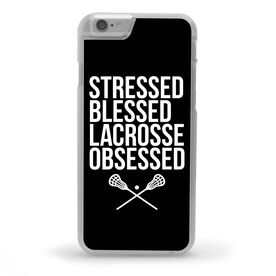 Lacrosse iPhone® Case - Stressed Blessed Lacrosse Obsessed [Black/iPhone 6 or 6S] - SS