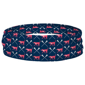 Girls Lacrosse Multifunctional Headwear - LuLa the Lax Dog RokBAND