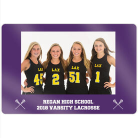 "Girls Lacrosse 18"" X 12"" Aluminum Room Sign - Team Photo"