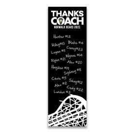 "Girls Lacrosse 12.5"" X 4"" Removable Wall Tile - Thanks Coach (Autograph) Vertical"