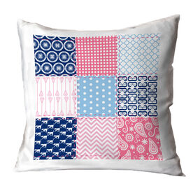 Girls Lacrosse Throw Pillow Lax Quilt