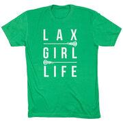 Girls Lacrosse Short Sleeve T-Shirt - Lax Girl Life