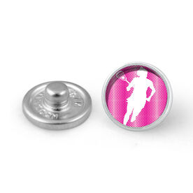 Lacrosse Girl Silhouette SportSNAPS Charm