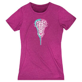 Girls Lacrosse Women's Everyday Tee - Lacrosse Stick Heart