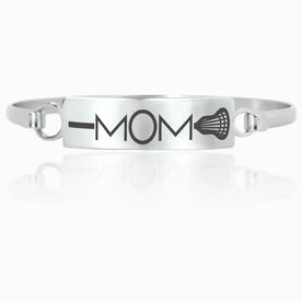 Lacrosse Engraved Clasp Bracelet - Mom