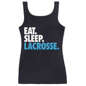 Girls Lacrosse Women's Athletic Tank Top Eat. Sleep. Lacrosse.