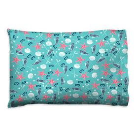 Girls Lacrosse Pillowcase - Sea Star and Shells