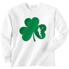 Girls Lacrosse Long Sleeve T-Shirt - Shamrock