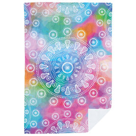 Girls Lacrosse Premium Blanket - Lax Mandala Tie-Dye