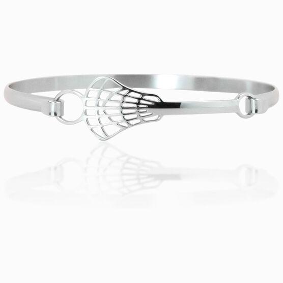 Lacrosse Stick Stainless Steel Bracelet