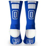 Team Number Woven Mid-Calf Socks - Blue (2019)