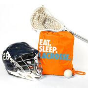 Lacrosse Sport Pack Cinch Sack Eat. Sleep. Lacrosse.