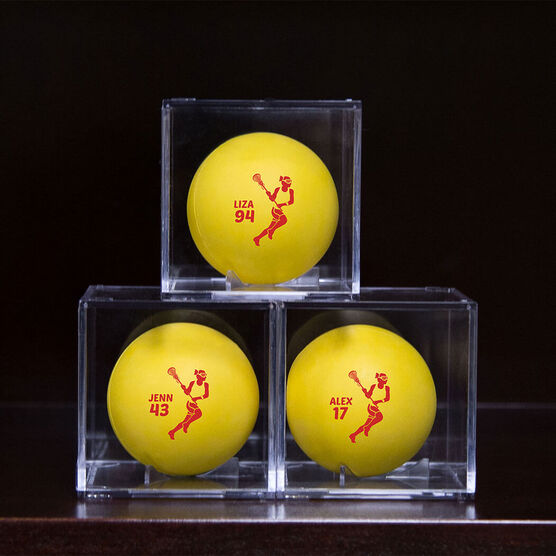 Girls Lacrosse Square Ball Display