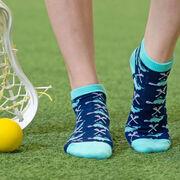 Girls Lacrosse Ankle Socks - Lax Whales