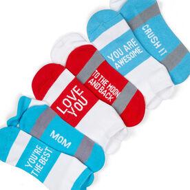 Socrates® Woven Performance Sock Set - Love you Mom