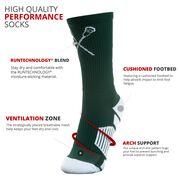 Lacrosse Woven Mid-Calf Socks - Just Lax