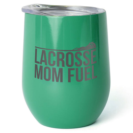 Girls Lacrosse Stainless Steel Wine Tumbler - Lacrosse Mom Fuel