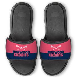 Girls Lacrosse Repwell™ Slide Sandals - Team Name Colorblock