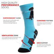 Lacrosse Woven Mid-Calf Socks - Lacrosse Dog