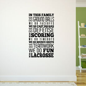 Lacrosse Removable ChalkTalkGraphix Wall Decal We Do Lacrosse