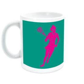 Girls Lacrosse Coffee Mug Girl