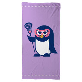 Lacrosse Beach Towel Lax Penguin