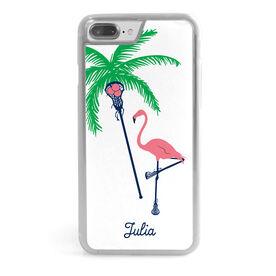 Girls Lacrosse iPhone® Case - Palm Tree & Flamingo