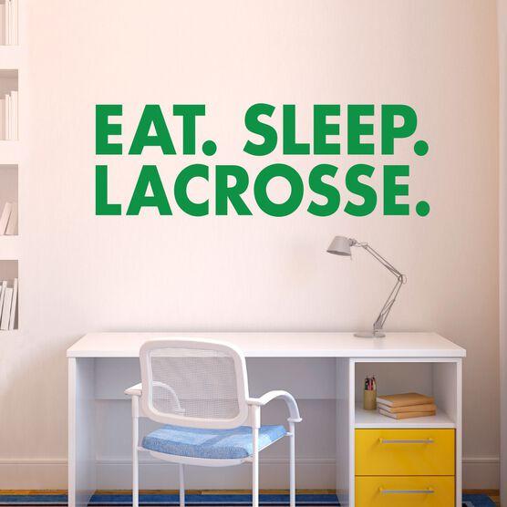 Lacrosse Removable ChalkTalkGraphix Wall Decal - Eat Sleep Lacrosse Bold Text