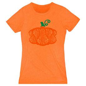 Girls Lacrosse Women's Everyday Tee - Lax Stick Pumpkin