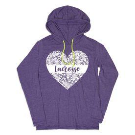 Girls Lacrosse Lightweight Hoodie - Lacrosse Heart