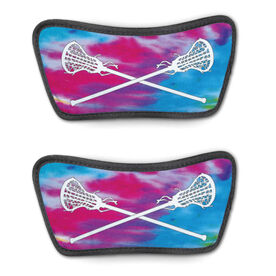 Girls Lacrosse Repwell® Sandal Straps - Tie-Dye With Crossed Sticks