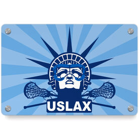 Girls Lacrosse Metal Wall Art Panel - Lady Lax