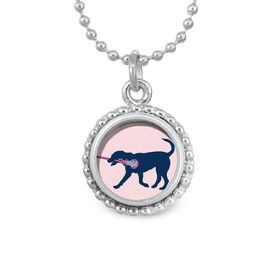 Girls Lacrosse SportSNAPS Necklace LuLa the Lax Dog