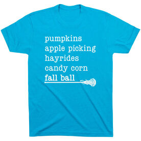 Girls Lacrosse Short Sleeve T-Shirt - Favorite Fall Things